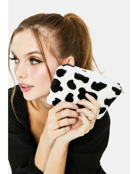 Moosic In Me Cow Print Change Purse