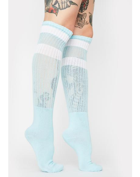 Top Stripe Knee High Socks