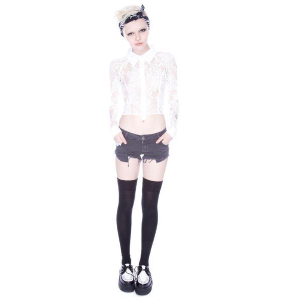 Slate Denim Shorts