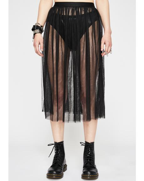 Quiet Riot Tulle Skirt
