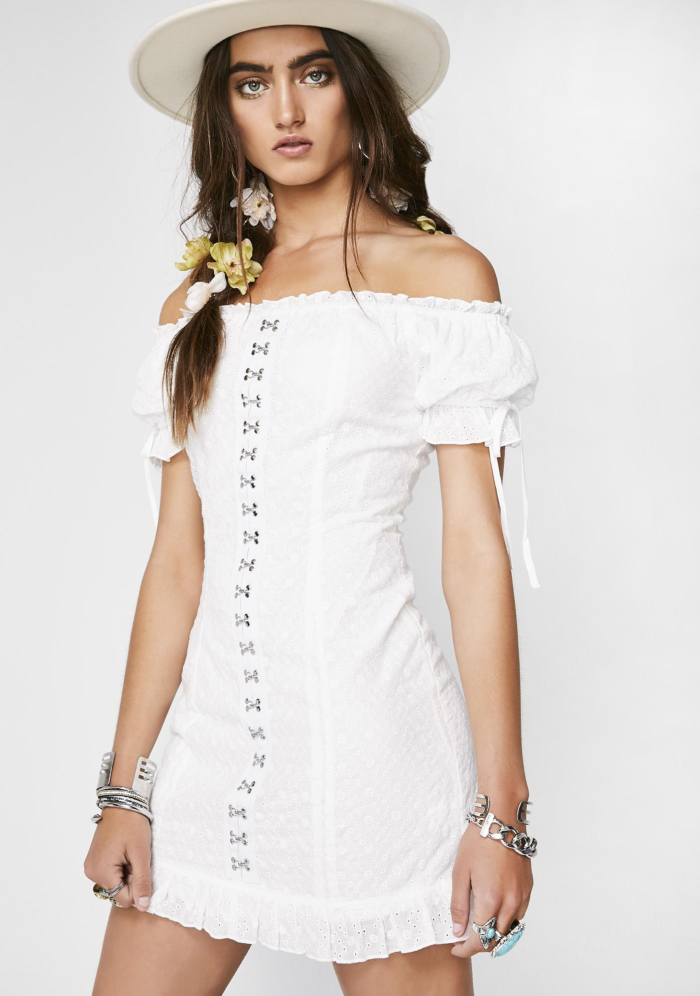 Meraki Off Shoulder Dress