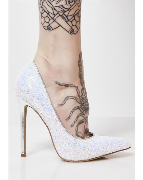 Cosmic Night Sky Glitter Heels