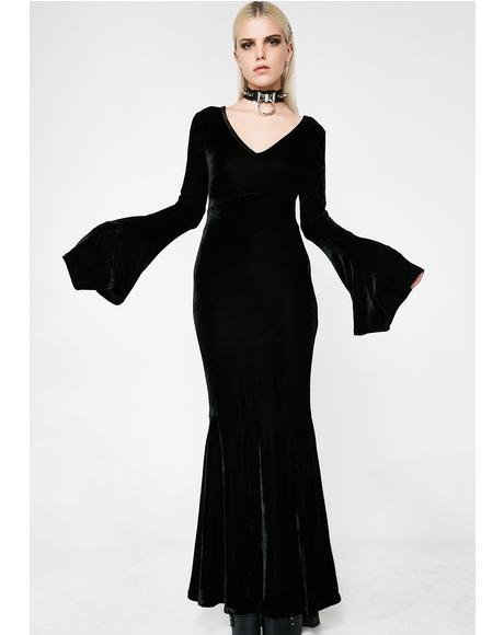 Bathory Velvet Maxi Dress