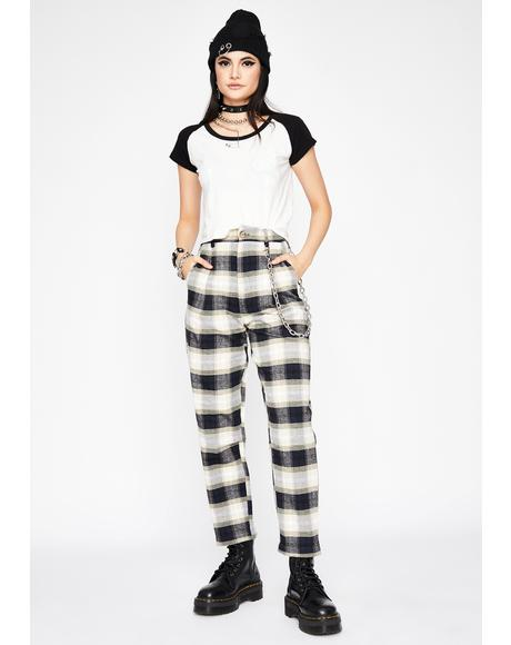 Mob Ties Plaid Trousers
