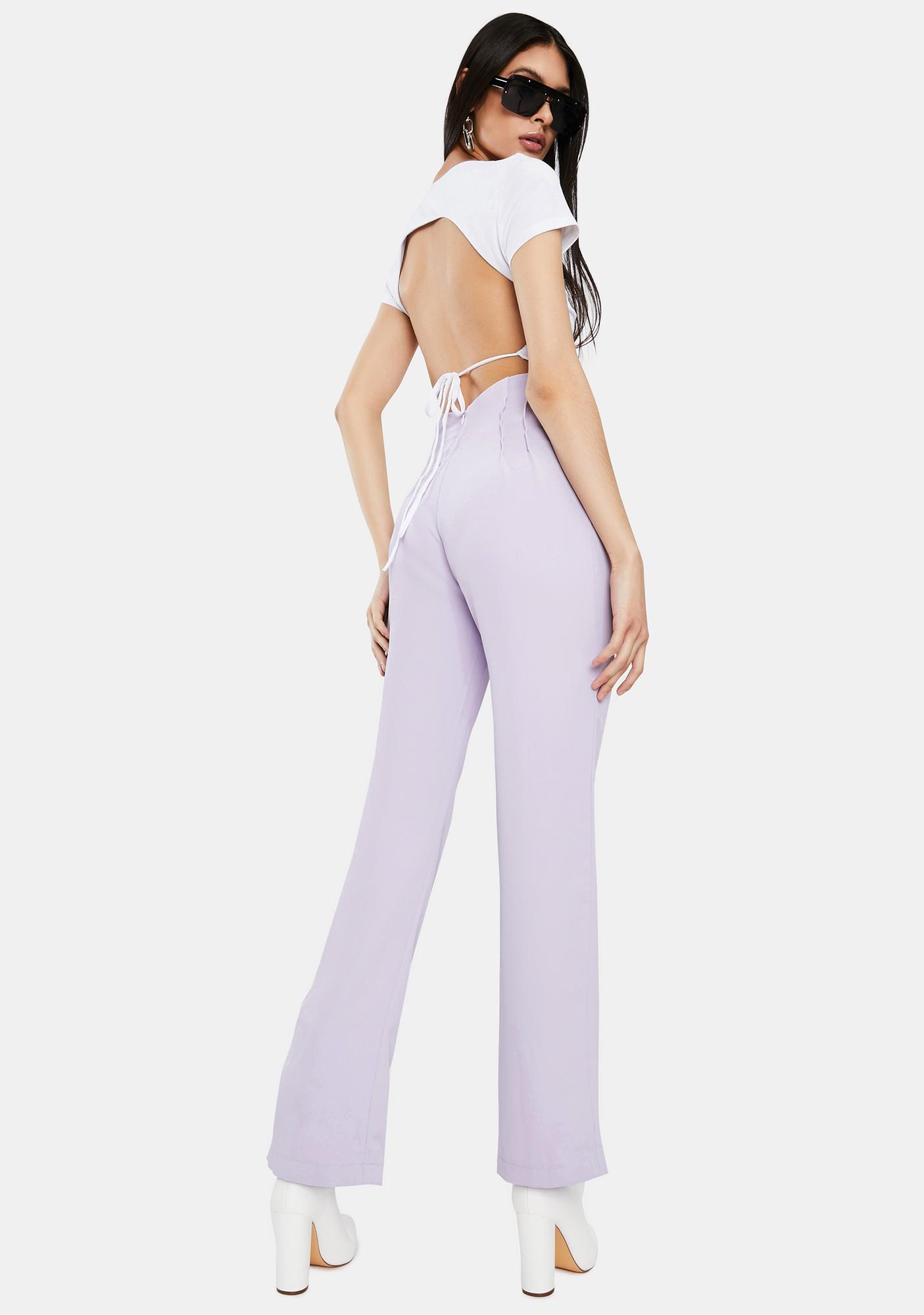 THE KRIPT Lavender Polly High Waist Pants