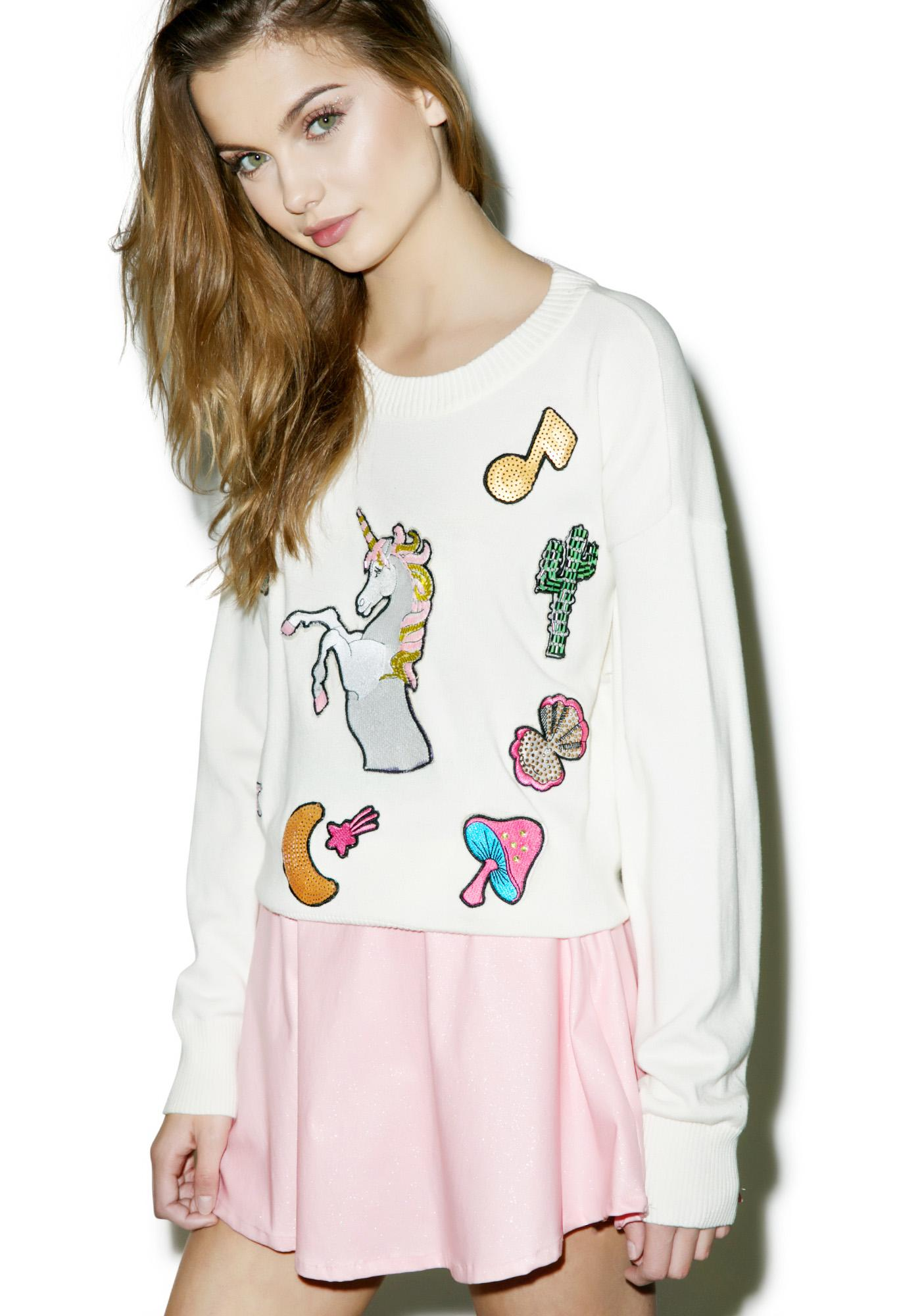 Wildfox Couture Fairytail Friends Charlotte Sweater