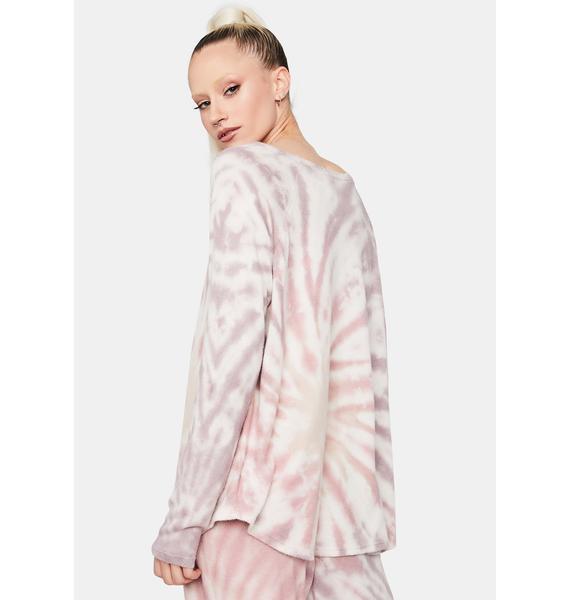 Violet Coast Cruisin' Tie Dye Crewneck Pullover
