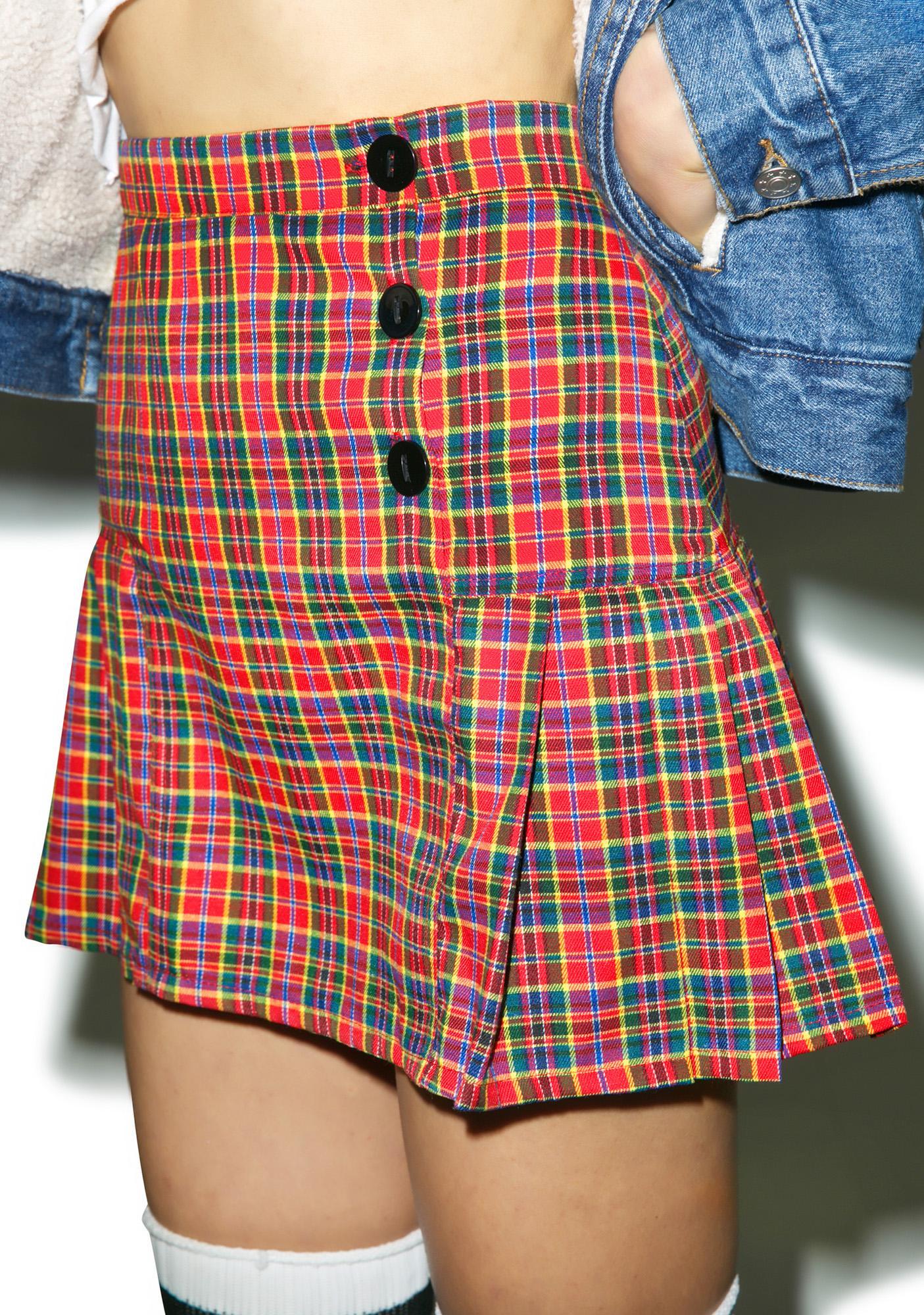 O Mighty The Naughty Plaid Skirt