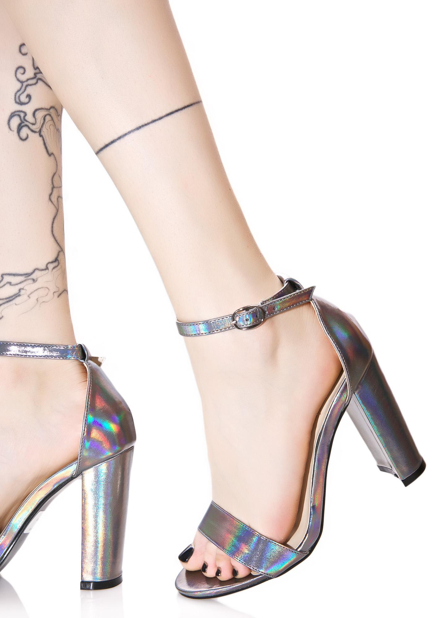 Glamorous Holographic Heels