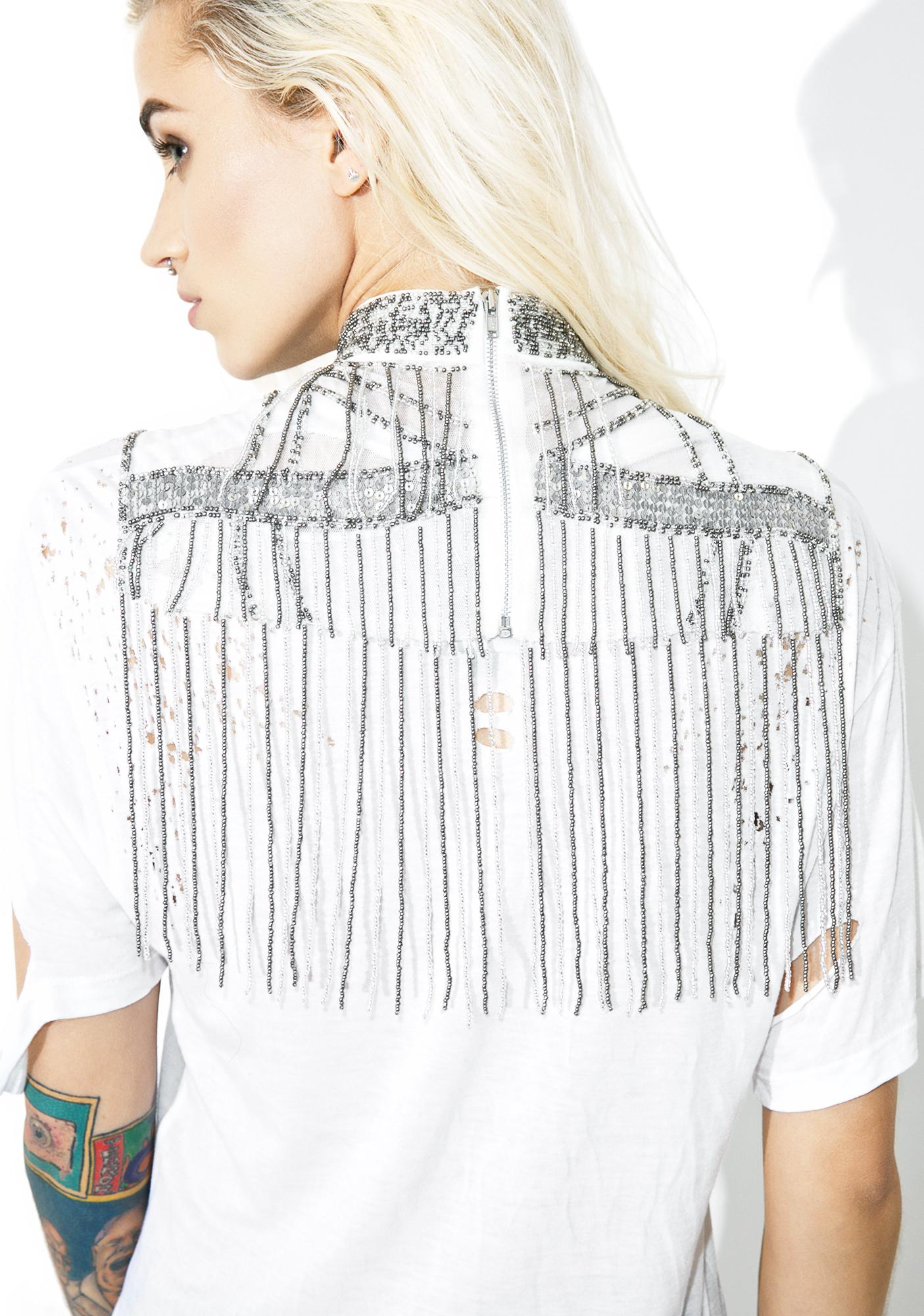 NEW FRIENDS COLONY Beaded Bib Collar