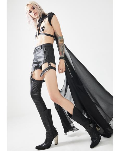 Punk Future Warrior Asymmetrical Pants