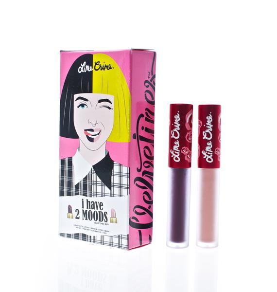 Lime Crime 2 Moods Velvetine Liquid Lipstick Duo
