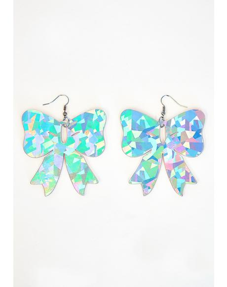 Acid Glow Bow Earrings