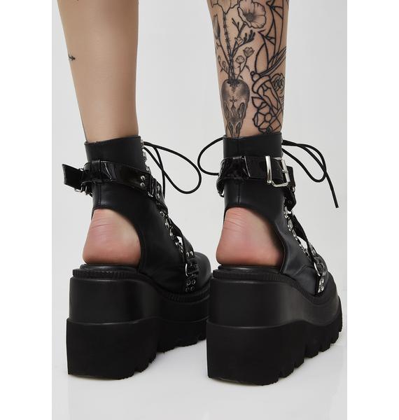 Demonia Cutout Heel Shaker Boots