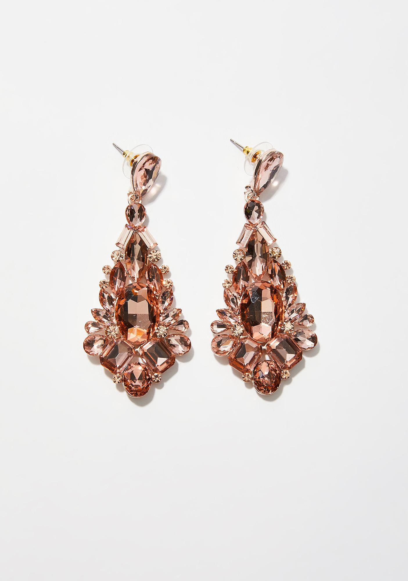 Sassy Socialite Bling Earrings