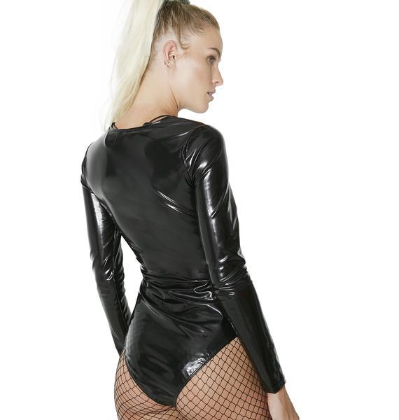 Deadly Toxin Vinyl Lace-Up Bodysuit