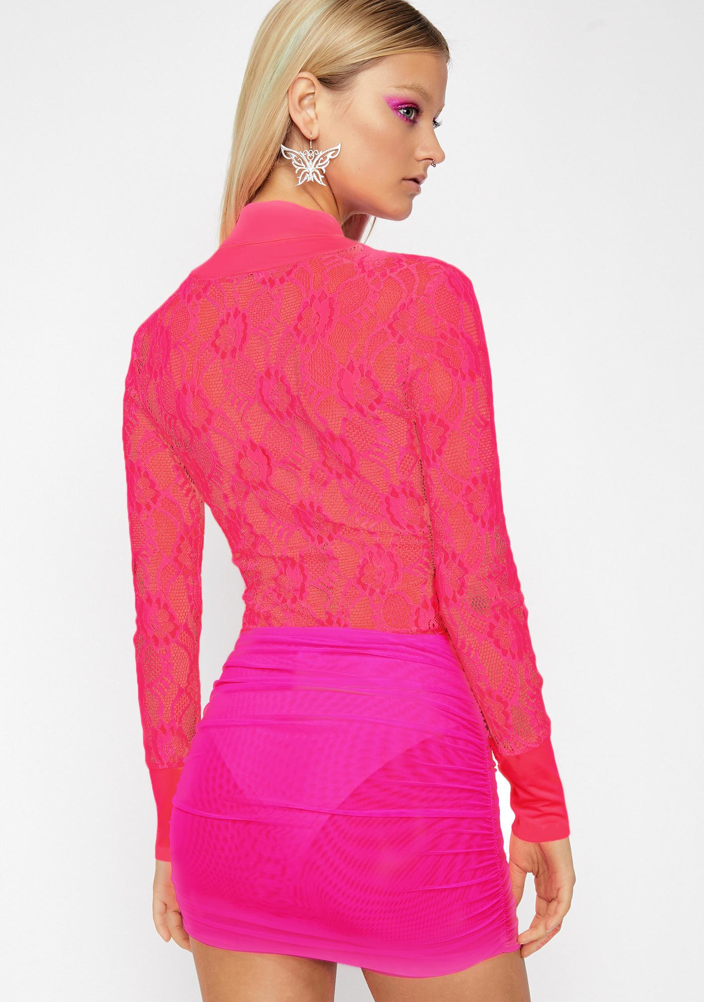 Pixie Romance Lace Bodysuit