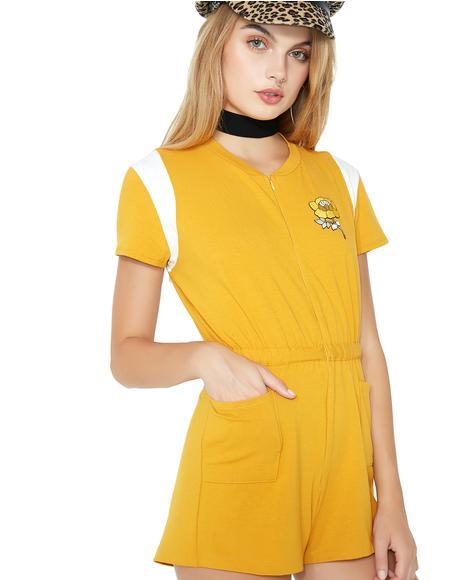 Mustard Carmen Romper