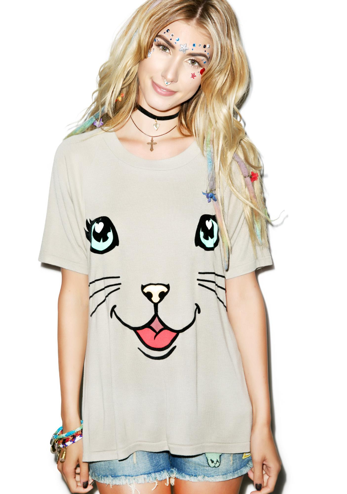 Wildfox Couture Happy Cat Perfect Tee
