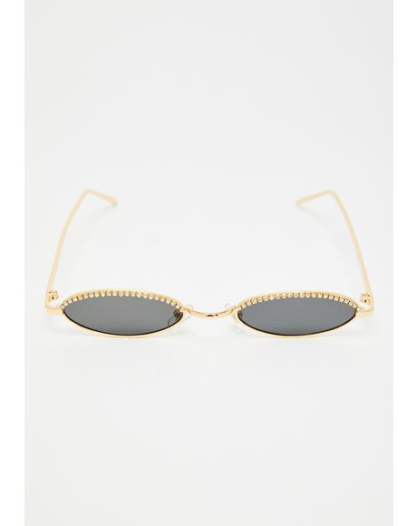 Rhinestone Stares Tiny Sunglasses