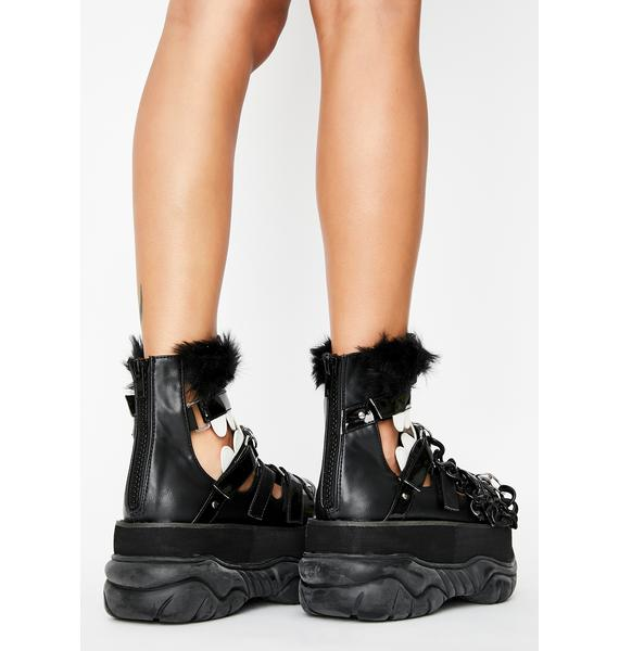 Demonia Chomp N' Stomp Platform Sandals