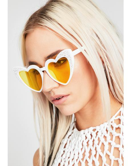 Glow Femme Doll Heart Sunglasses
