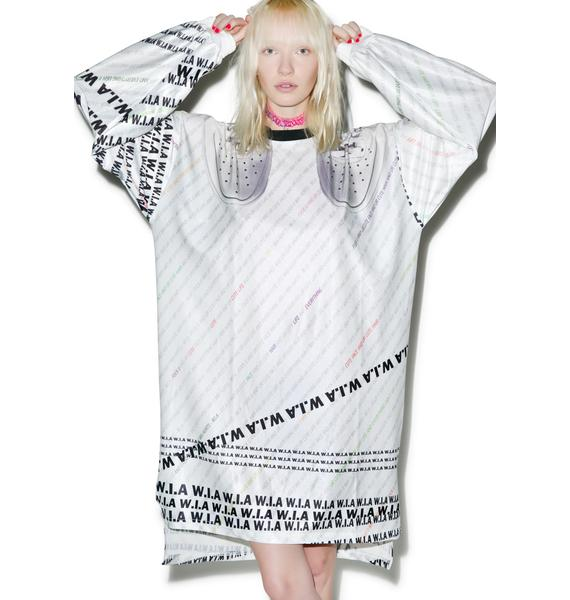 W.I.A White W.I.A Extra Long T-Shirt