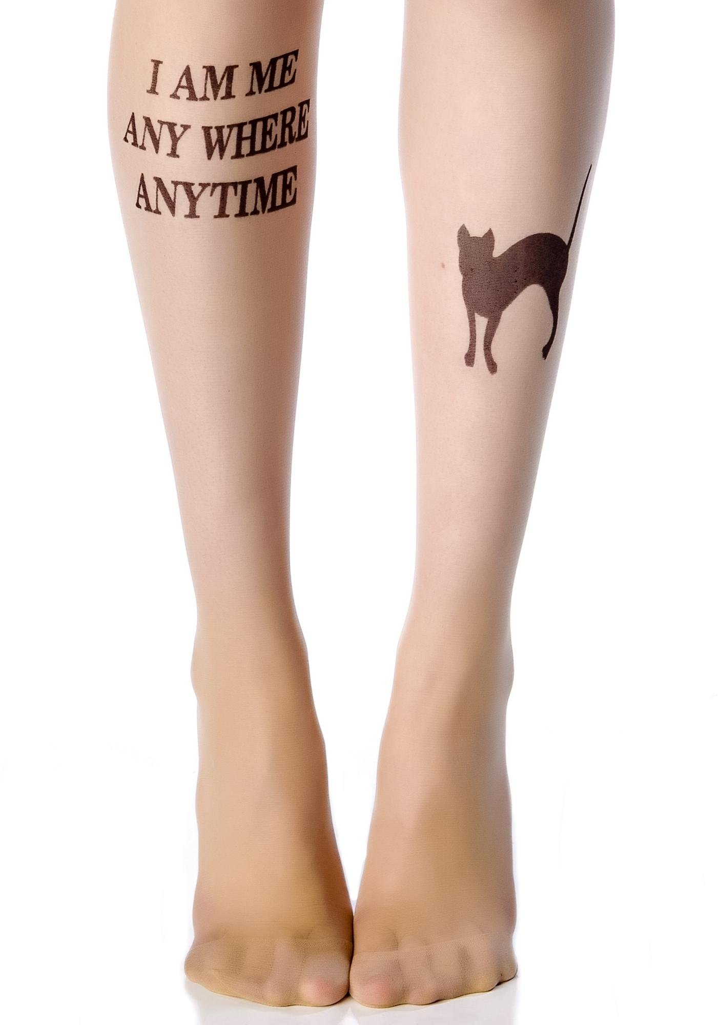 Cuz I am Me Tattoo Tights