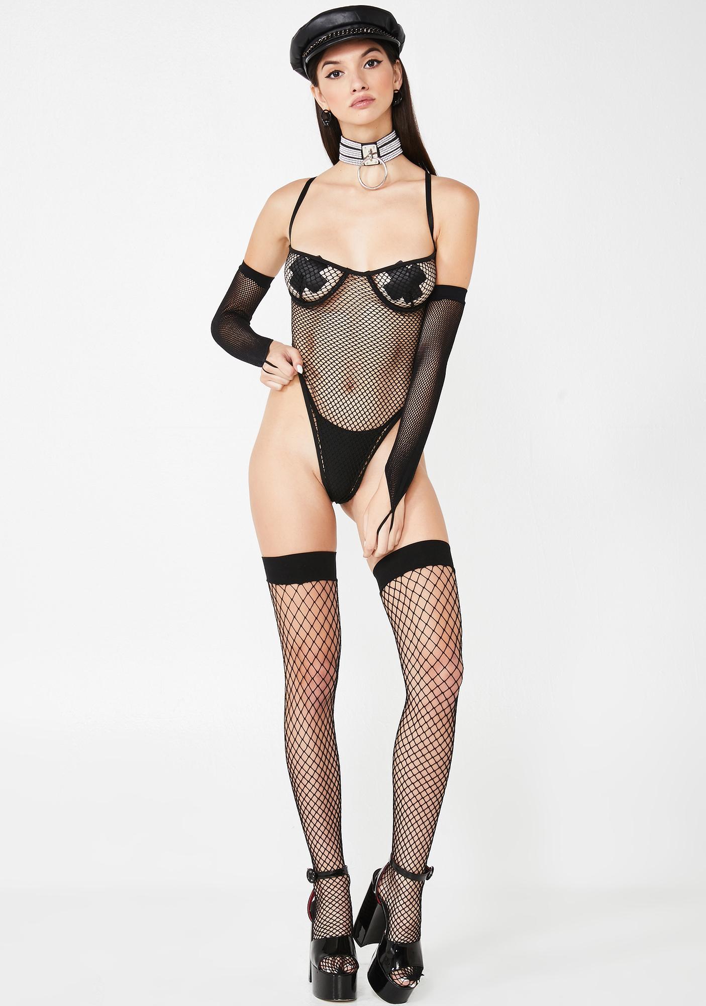 You Caught Me Fishnet Bodysuit