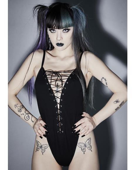 Vicious Mischief Lace Up Bodysuit