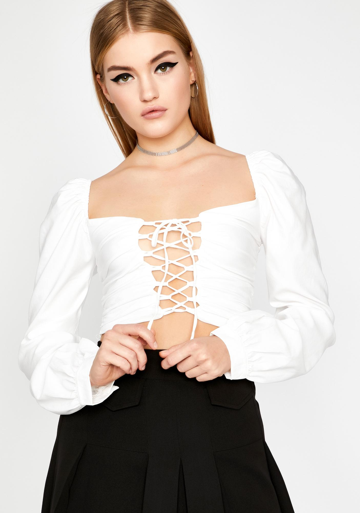 Pure Afflicted Affair Lace Up Top