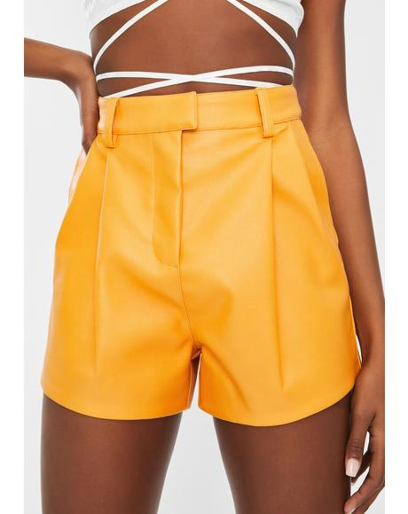 Karma Vegan Leather Shorts