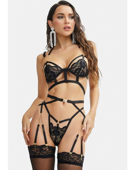 Night Lucky Lover Lace Lingerie Set