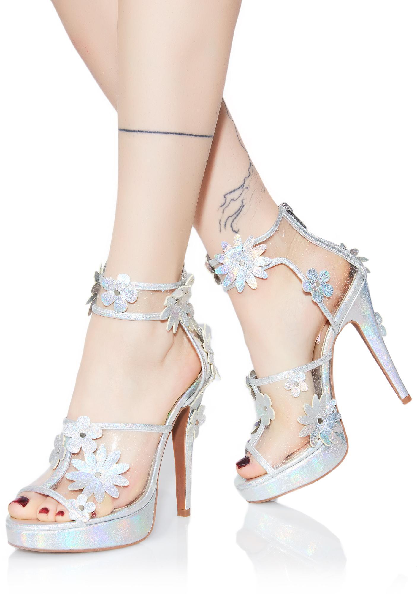 Sugar Thrillz Garden Girl Hologram Heels