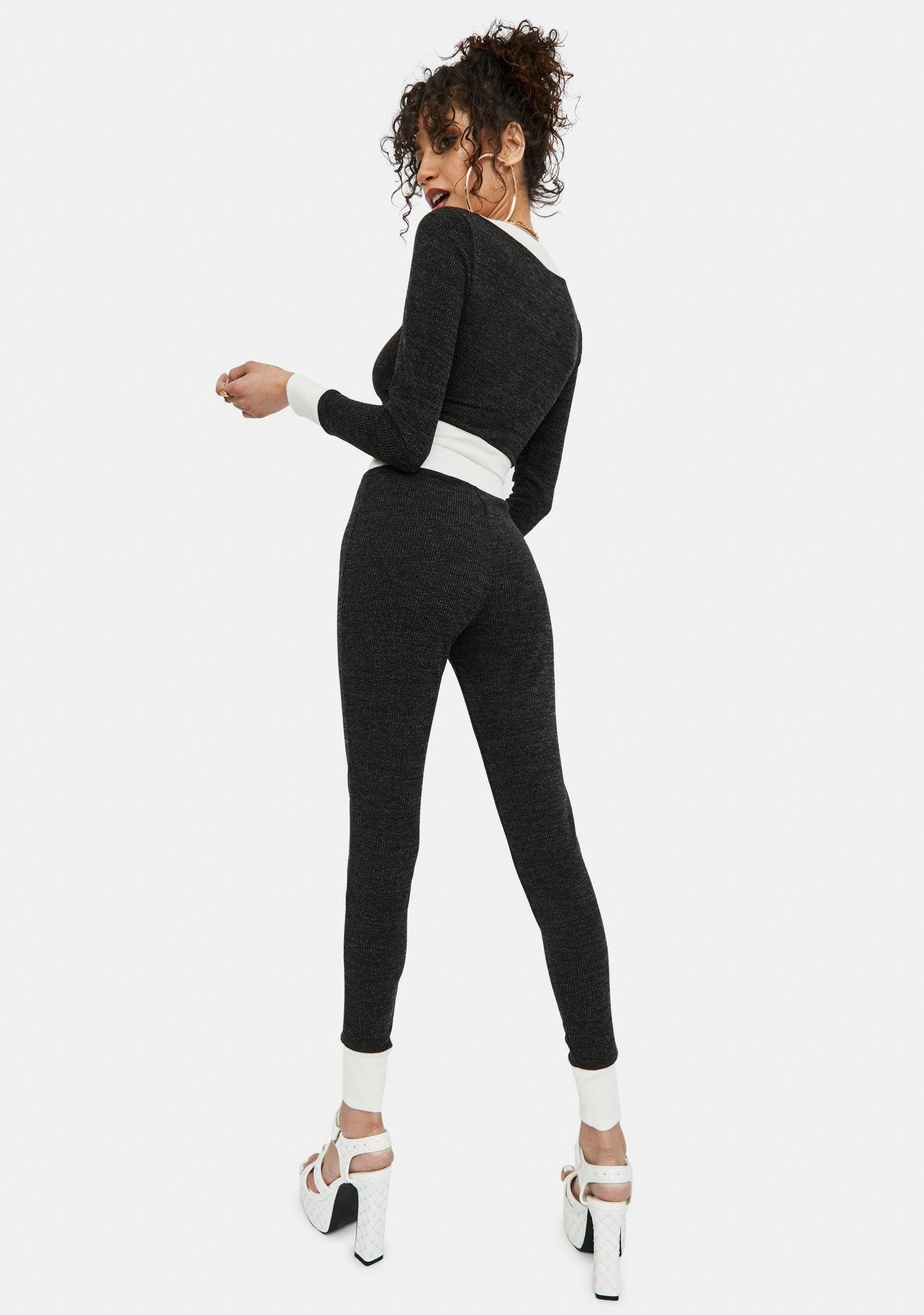 Midnight Committed To Passion Leggings Set