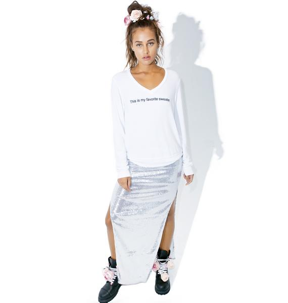 Wildfox Couture My Favorite Sweater Baggy Beach V-Neck