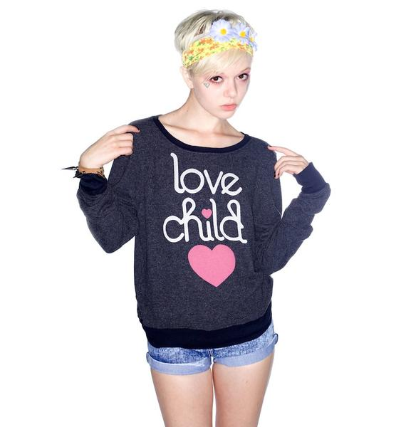 Wildfox Couture Love Child Baggy Beach Jumper
