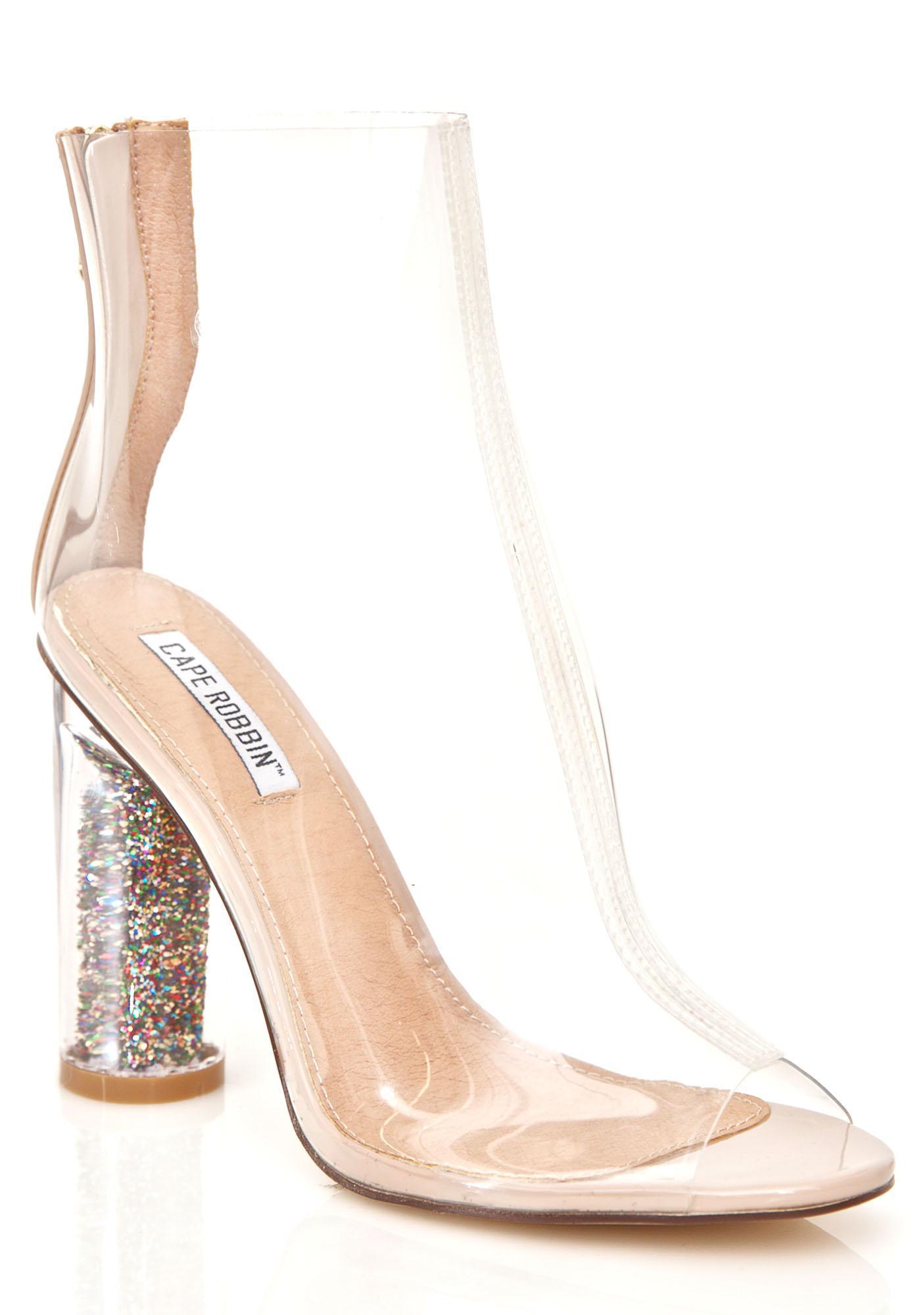 Glitterati Peep-Toe Boots