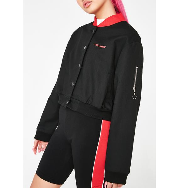 Local Heroes 911 Cropped Bomber Jacket
