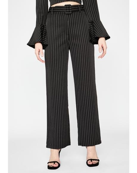 Point Blank Period Pinstripe Pants