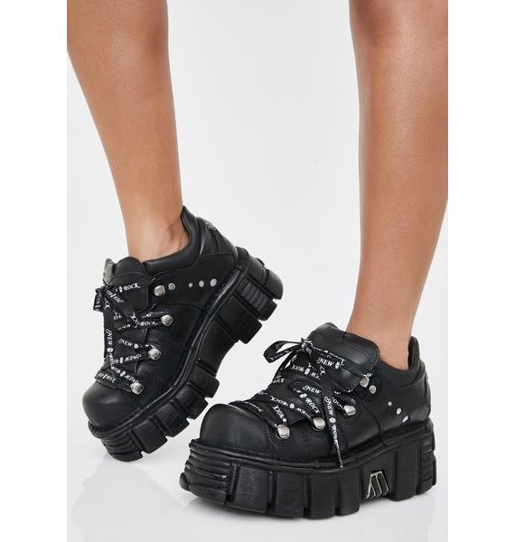 New Rock Obscure Oasis Platform Boots