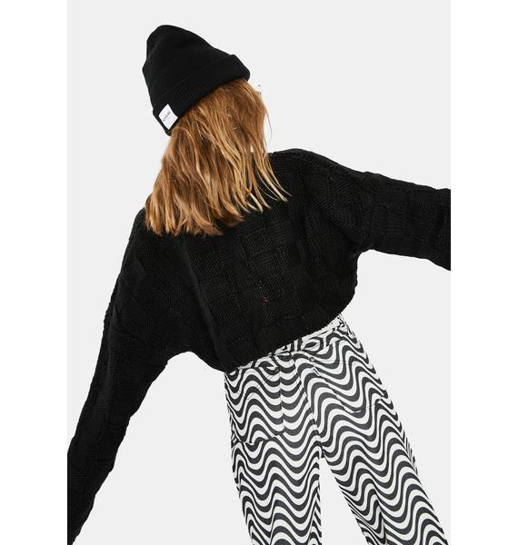 The Ragged Priest Creep Waffle Knit Crop Sweater