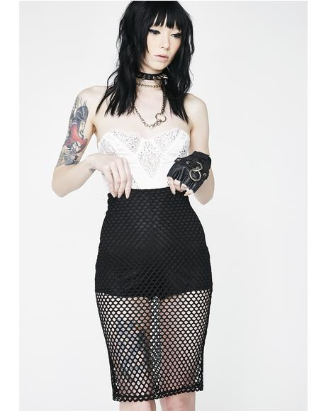 Dark Dream About It Net Skirt