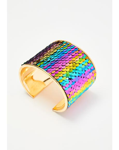 Kaleidic Kitty Sequin Cuff