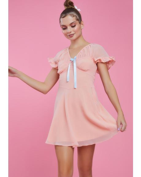 Flow Moment Chiffon Mini Dress