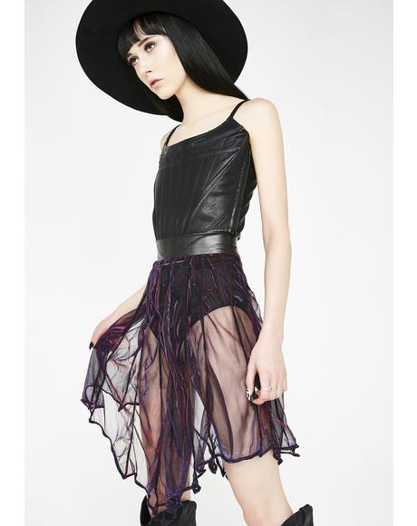 Minyades Iridescent Bat Skirt