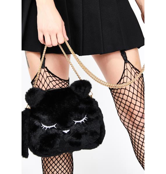 Kitty Dearest Fuzzy Handbag