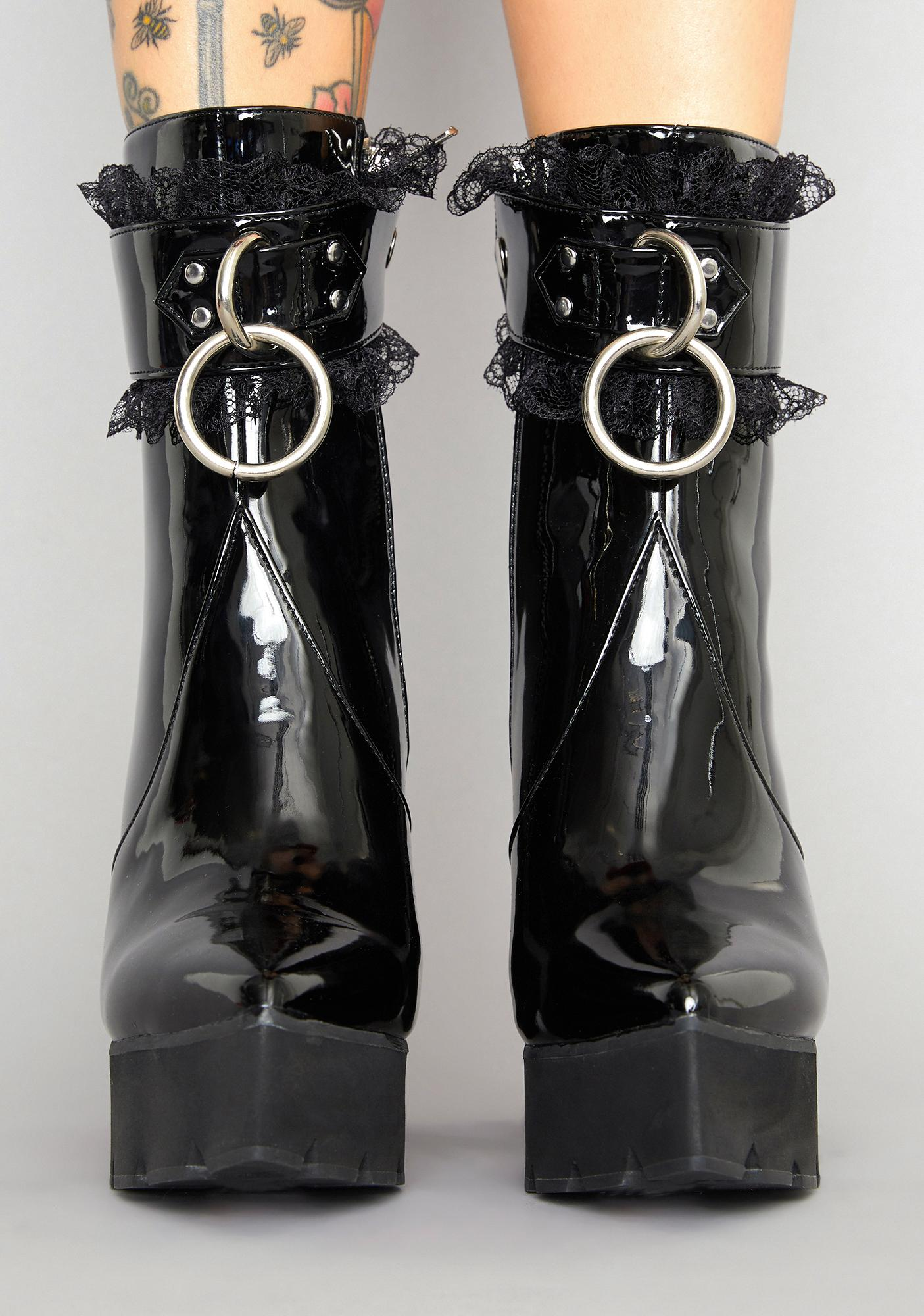 Widow Lifted Spirit Patent Boots