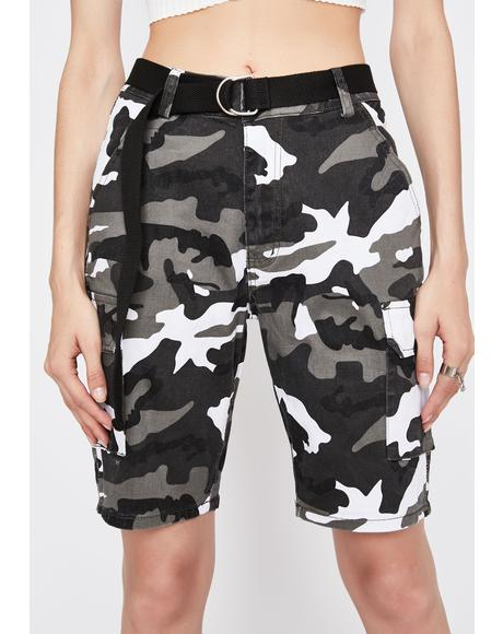 Midnight Camo Shock Cargo Shorts
