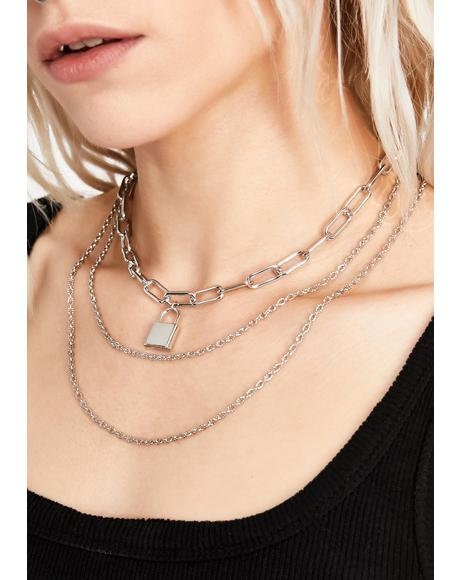 On Lock Down Layered Necklace